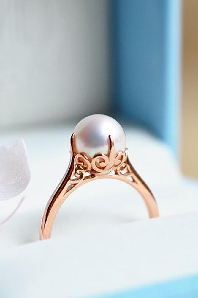 30 Pearl Engagement Rings For A Beautiful Romantic Look Oh So Perfect Proposal