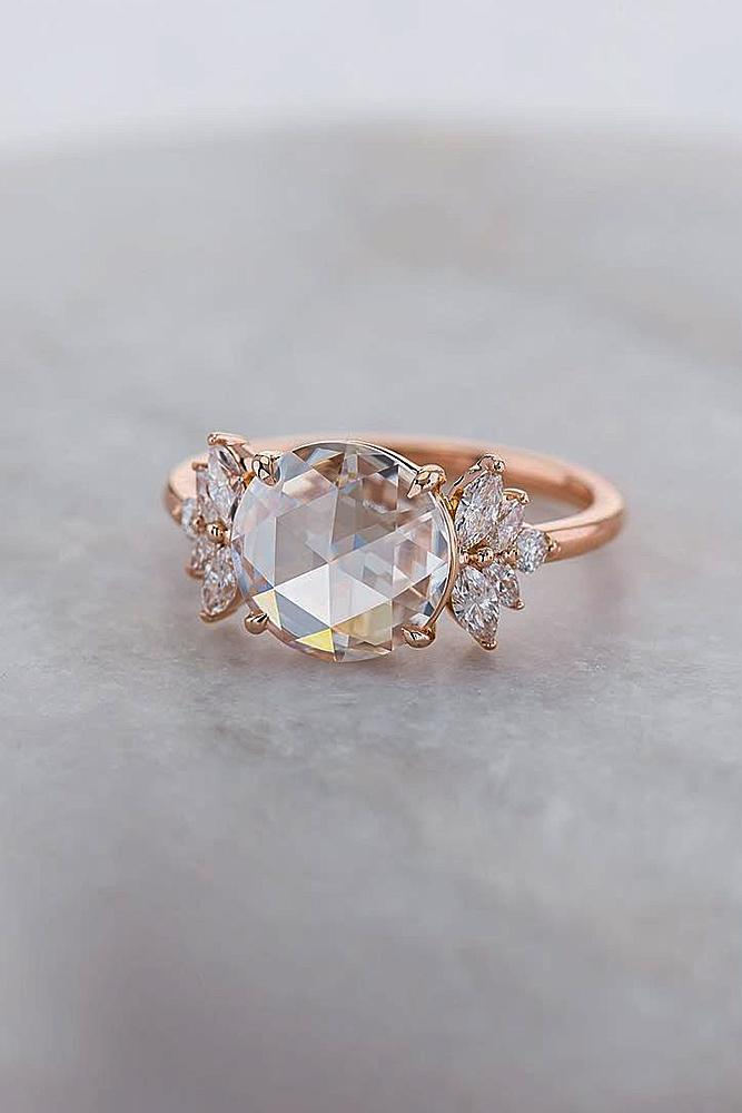 33 Unique Engagement Rings In Rose Gold Oh So Perfect