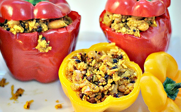 Vegetarian Moroccan Stuffed Peppers