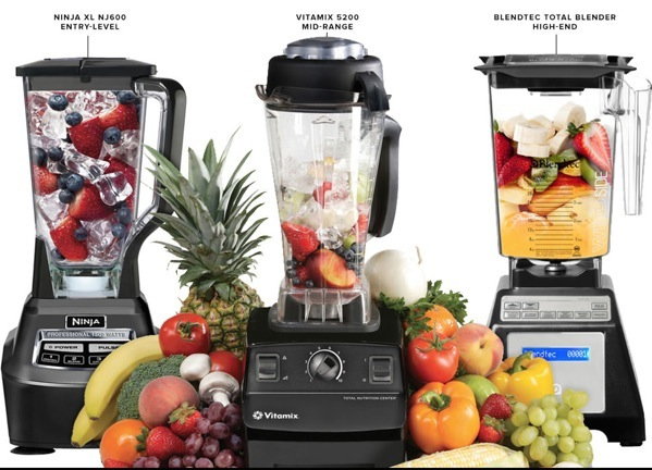 The difference between juicers and blenders