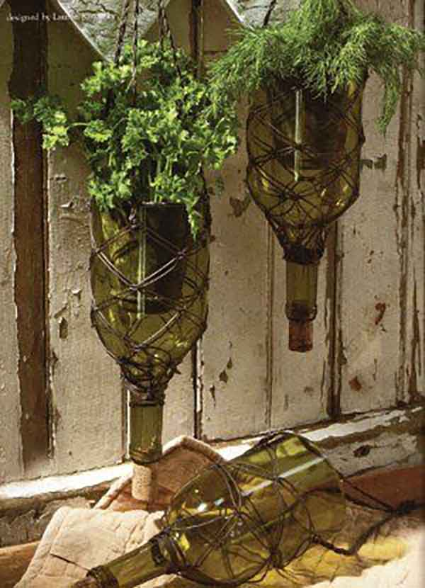 wine-bottle-planter