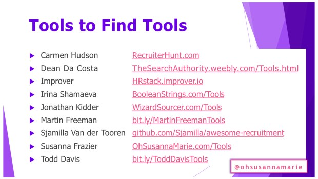 Tools to Find Tools