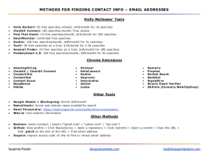 [1pager] Methods for Finding Contact Info - SourceCon