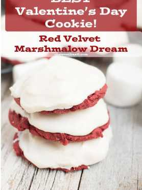 The Best Valentines Day Cookie (and my husbands favorite ever!) Red Velvet marshmallow! ohsweetbasil.com1