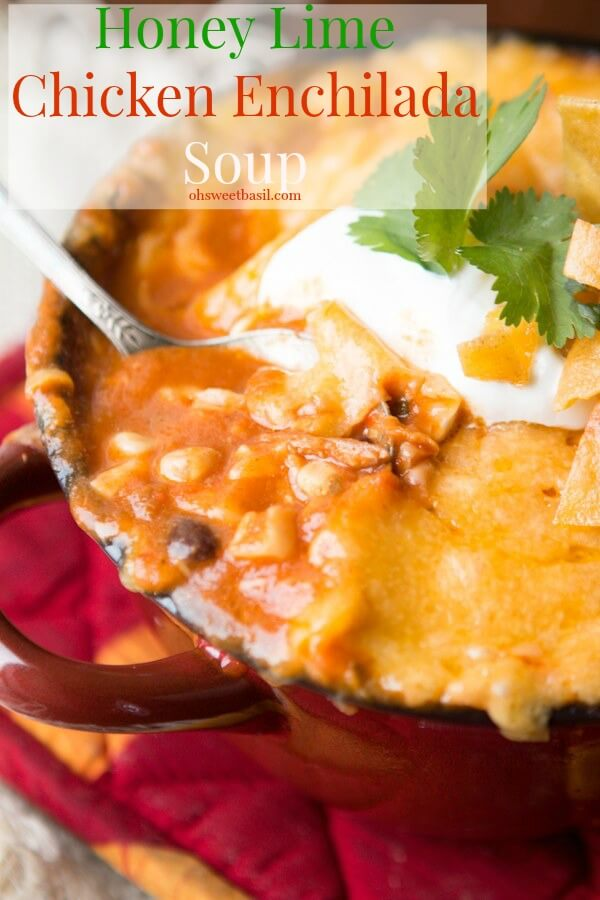 Ya know how Honey Lime Chicken Enchiladas are kind of the bomb.com? Well we made a honey lime chicken enchiladas soup that is totally just as awesome!