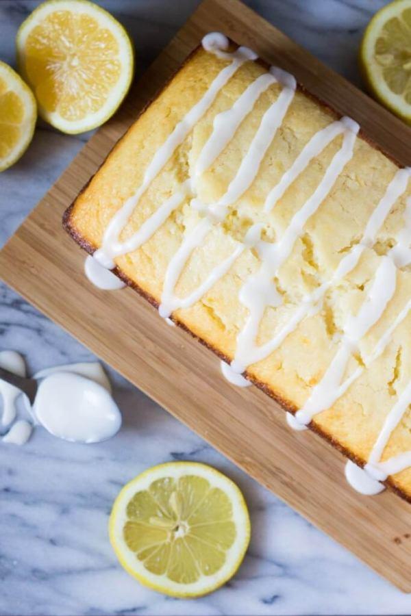 Super soft & moist lemon loaf with lemon glaze is bursting with fresh lemon flavor. Seriously better than the Starbucks version.