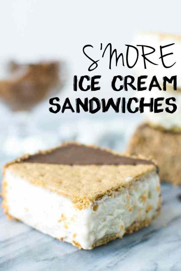 Simple S'more Ice Cream Sandwiches! abajillianrecipes.com