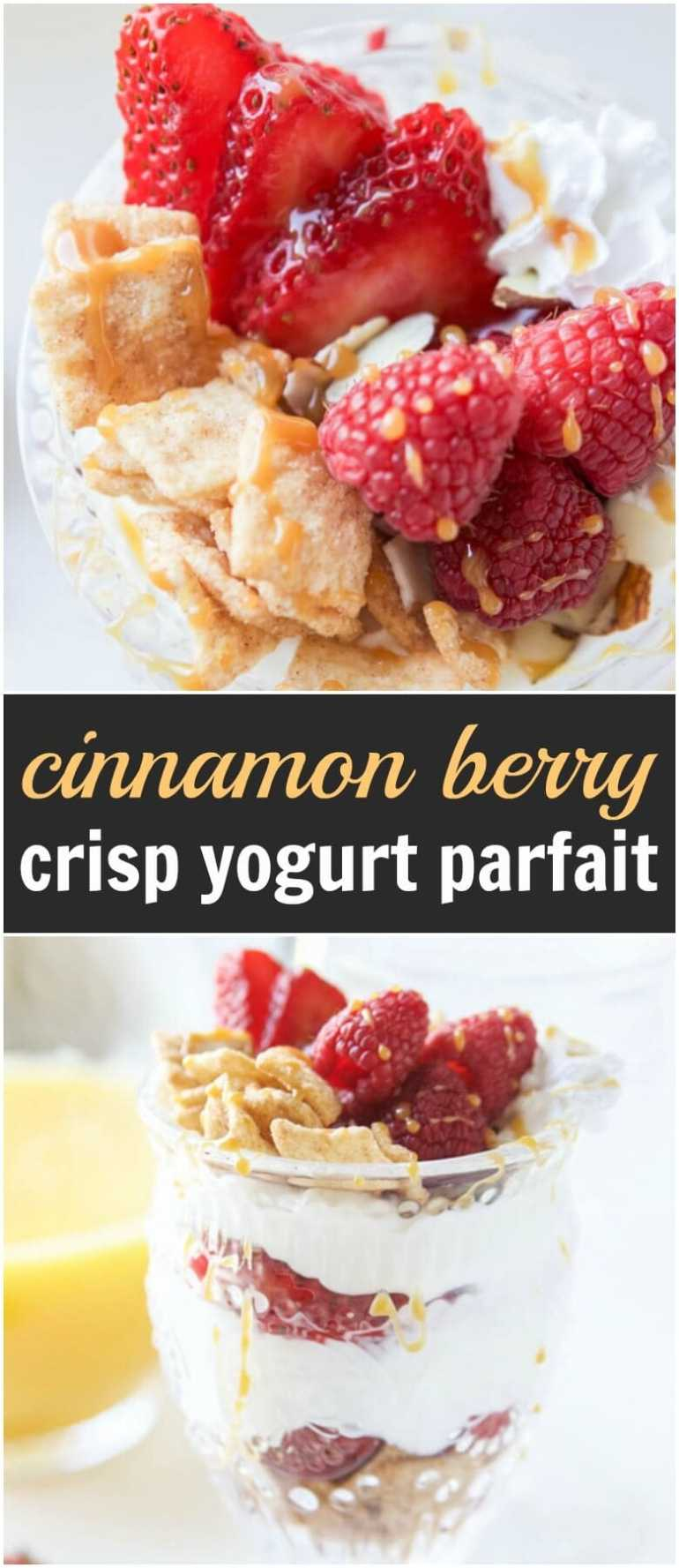 A breakfast mashup you've never had before. Cinnamon berry crisp yogurt parfait is a new creation that combines two of our favorite breakfast foods. ohsweetbasil.com