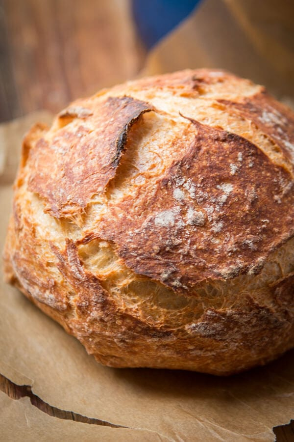 No Knead Artisan Bread Recipe In A Dutch Oven Oh Sweet