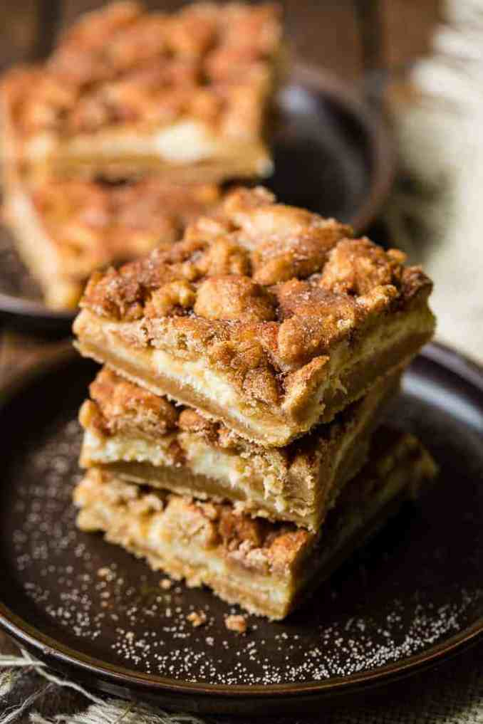 Fantastic Snickerdoodle Cheesecake Bars - Oh Sweet Basil