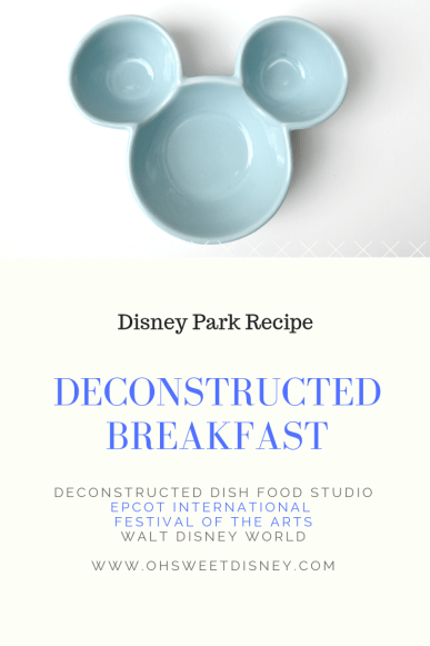 Disney Park Recipe: Deconstructed Breakfast