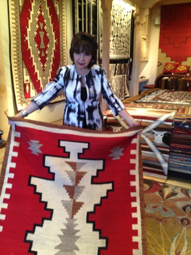 Geri Ortiz, a Packards associate, laid out my rugs of choice for a closer look.