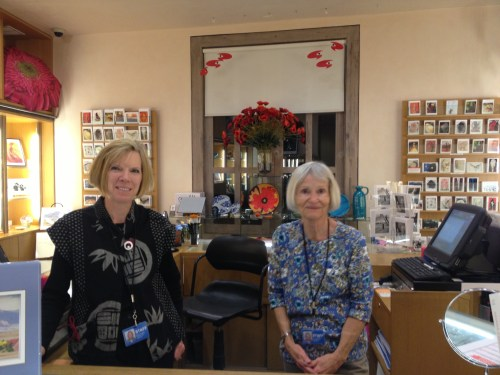 These ladies in the O'Keeffe Museum Gift Shop showed us the touris favorites and then invited us to an upcoming tea!  Love this place!