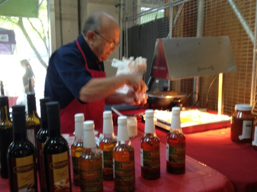 Fresh tilapia baked in Militello's Sicilian Olive Oil was our treat from this booth.