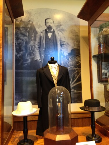 Display of clothing in the Visitor Center at Jack Daniel Distillery