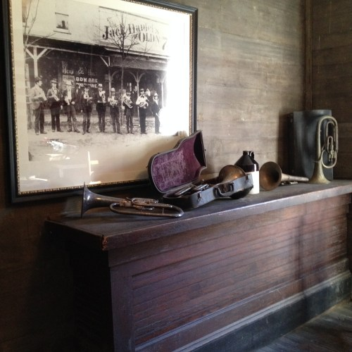 Photographs and antiques in the office at Jack Daniel's