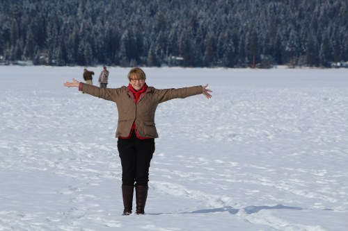 First time ever -- standing on a frozen lake!!!