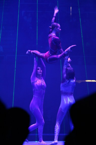 Three acrobats: Ringling Bros. Circus