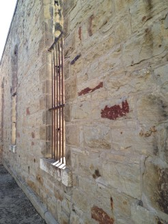 Detail of stonework: Old Idaho Penitentiary