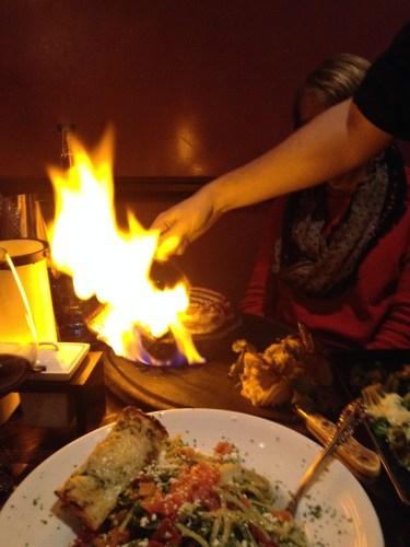 Tableside flames at Barbacoa