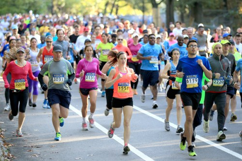 Runners in Boston