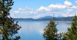 Springtime view of Lake Coeur d'Alene