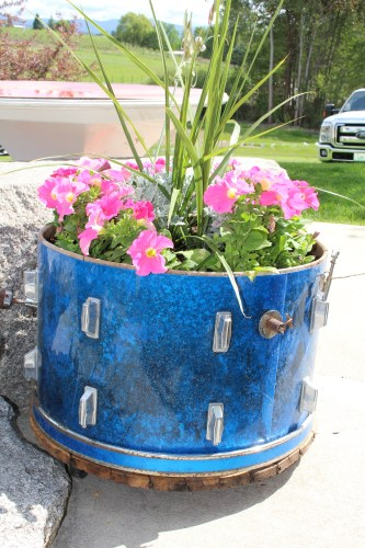 Snare drum flower pot