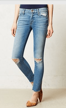 Frayed jeans from Anthropologie
