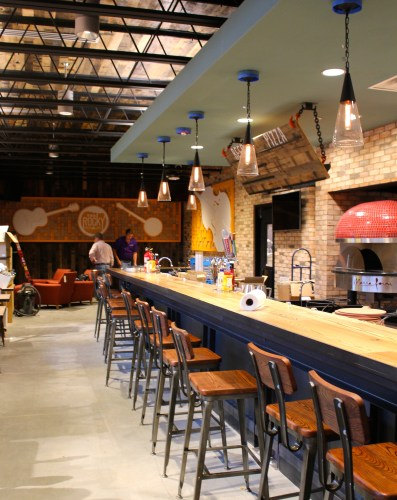 The Rocky -- where you can order beer, wine, pizza and listen to live music!