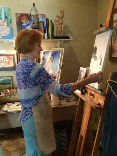 Art studio of Melanie Wood