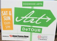 Art DeTour sign for Dogwood Arts Festival