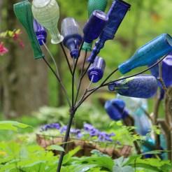 Bottle tree -- Suzie Hall's garden