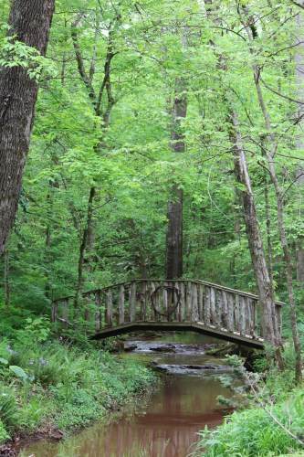 Bridge over the natural stream on the property of Suzie Hall