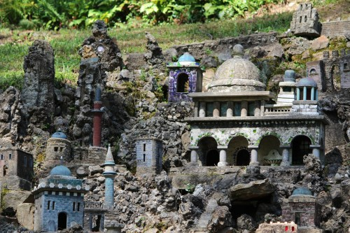 Classy buildings with domes made of toilet floats -- Ave Maria Grotto