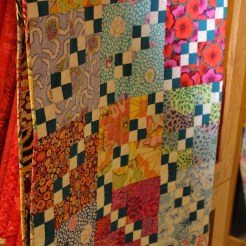 Brilliant colors in this quilt on display at Tennessee Quilts, Jonesborough