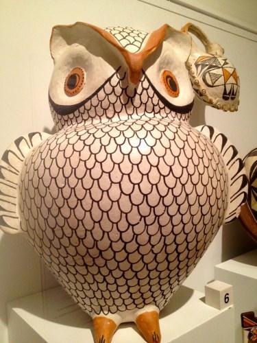Pottery owl -- Haakkume Dyunni at Acoma Pueblo