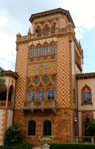 The imposing tower of Ca' d'Zan, former home of John and Mable Ringling.