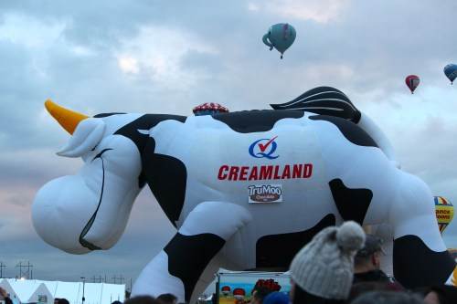 Moovin' on up: the Creamland Cow!