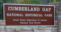 Cumberland Gap National Historical Park marker