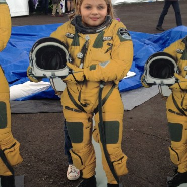 Posing as an astronaut at Balloon Fiesta 2014