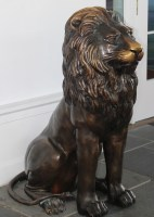 Lion statue at doorway of The Greenbrier