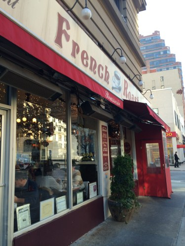 Great little place for coffee and pastries: French Roast Uptown on Broadway, Upper West Side.