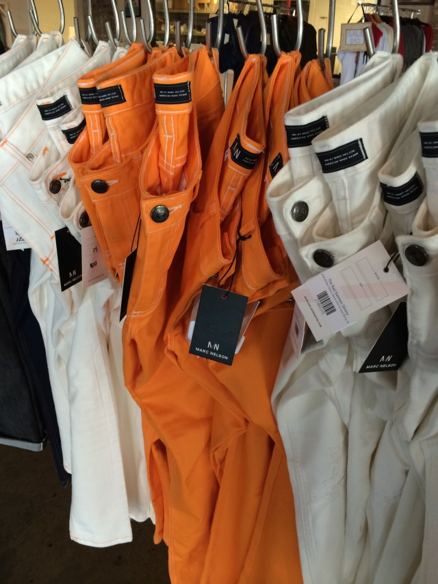 Orange and white jeans. Gotta have 'em in Big Orange country!