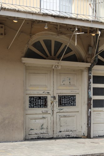 Double doors and arched window, New Orleans French Quarter