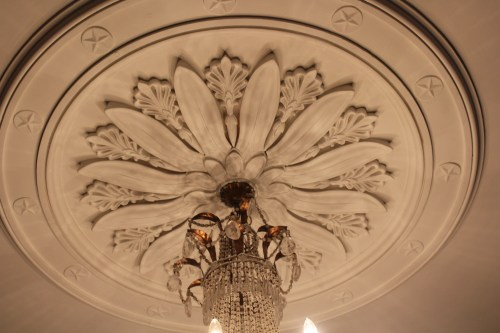 Original ceiling tile -- Napoleon House, New Orleans