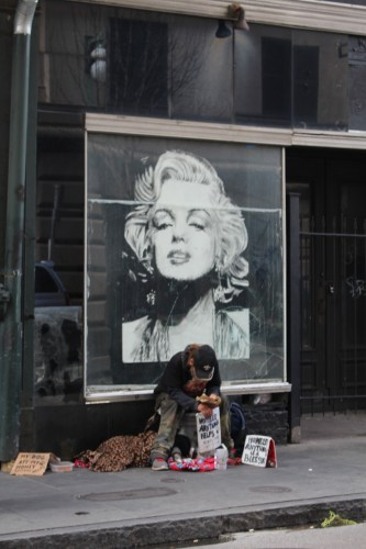 Person hanging out with Marilyn Monroe.