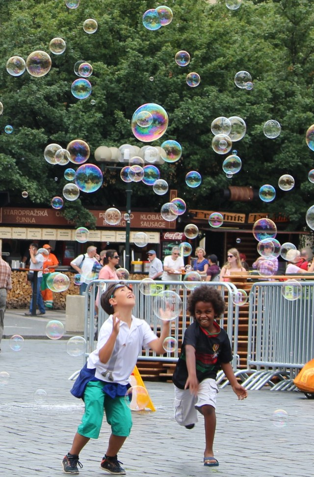 Chasing bubbles in Prague!