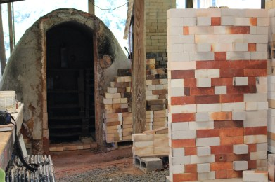 Taking a peek inside Kline's kiln