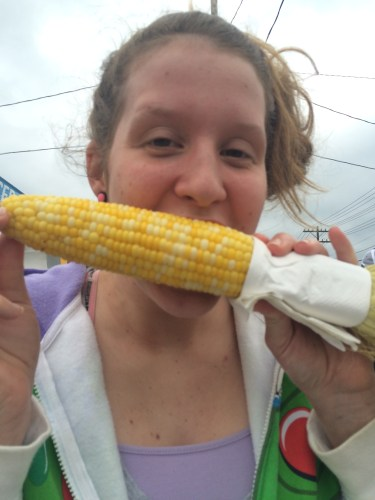 Corn on the cob is pretty tasty!