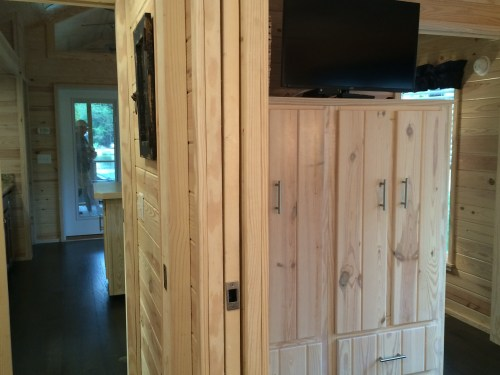 Pocket doors, ample storage in tiny house in Flat Rock